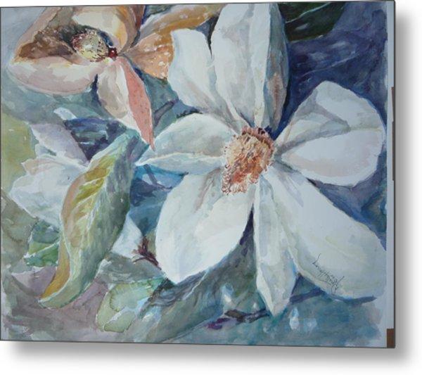 Magnolia Magic Metal Print by Dorothy Herron