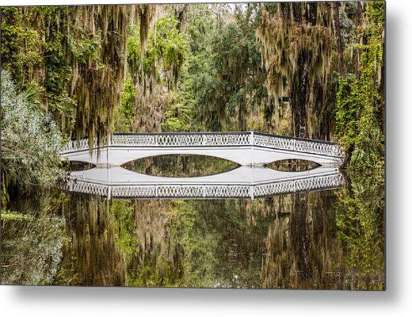 Magnolia Plantation Gardens Bridge Metal Print