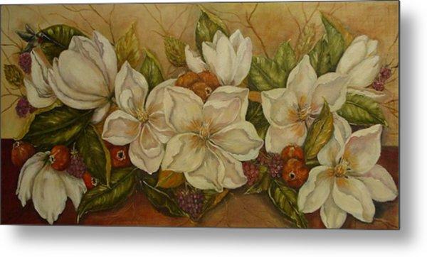 Magnolias Metal Print by Tresa Crain