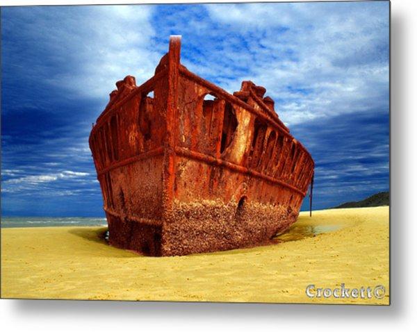Maheno Shipwreck Fraser Island Queensland Australia Metal Print