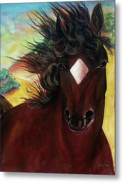 Metal Print featuring the painting Mahogany  by Thomas Lupari