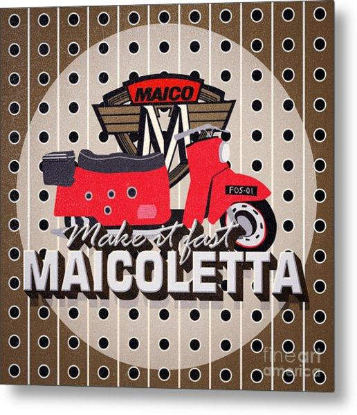 Maicoletta Scooter Advertising Metal Print