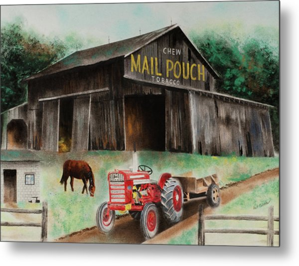 Mail Pouch Barn Indiana Co Pa Pastel By Paul Cubeta