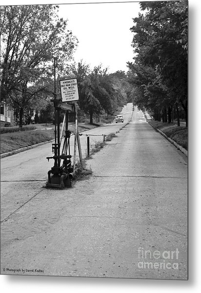 Main Street Oil Well Metal Print