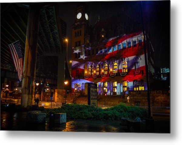 Main Street Station At Night Metal Print