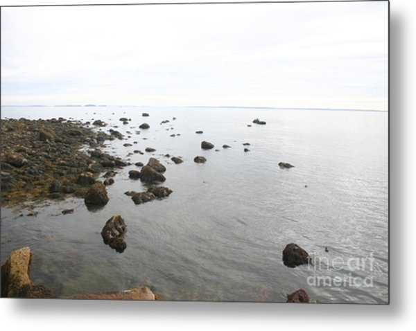 Maine Bay Metal Print by Dennis Curry