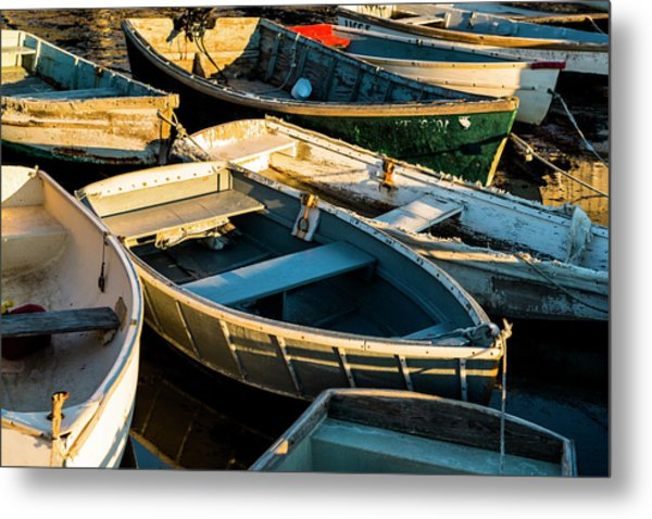 Maine Boats At Sunset Metal Print