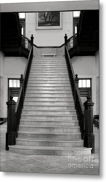 Maine Capitol West Wing Staircase Metal Print