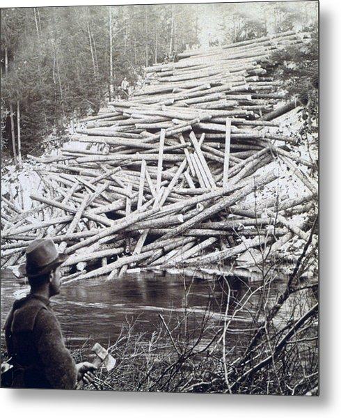 Maine Logging -  C 1903 Metal Print