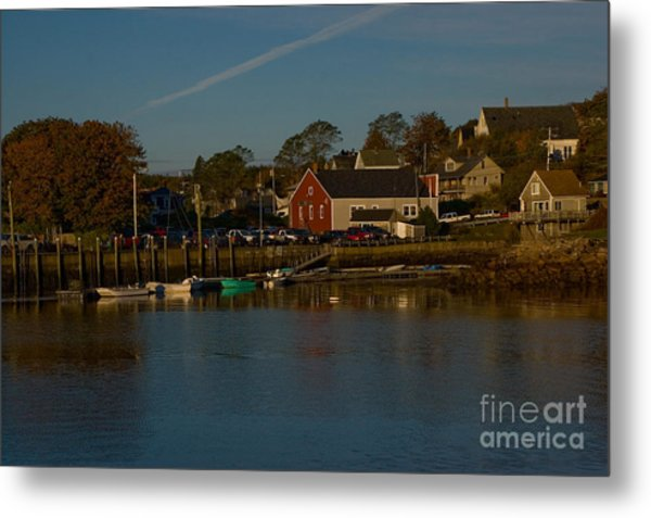 Maine- Seaports In Fall Metal Print
