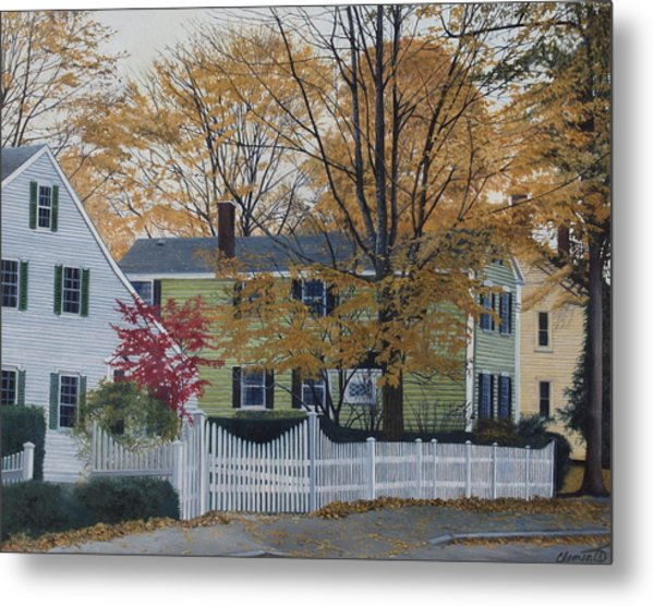 Autumn Day On Maine Street, Kennebunkport Metal Print