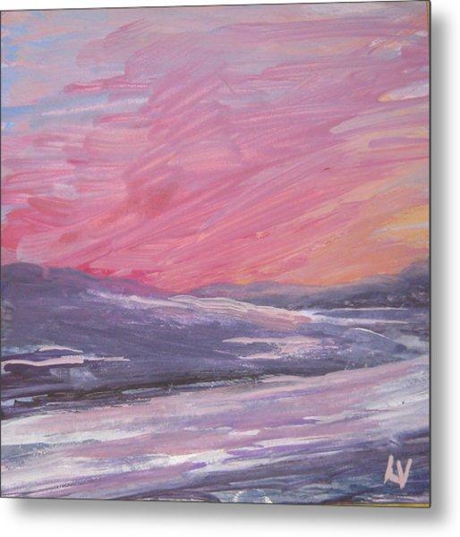 Maine Sunset Metal Print by Lynne Vokatis