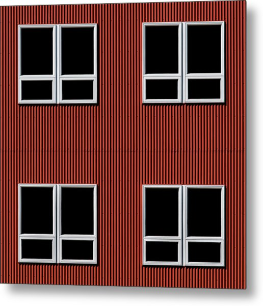 Maine Windows 3 Metal Print