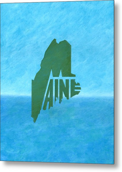 Maine Wordplay Metal Print