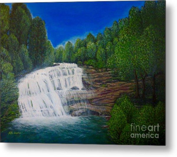 Majestic Bald River Falls Of Appalachia II Metal Print