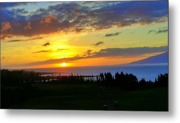 Majestic Maui Sunset Metal Print