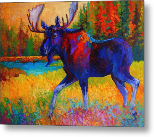 Majestic Monarch - Moose Metal Print