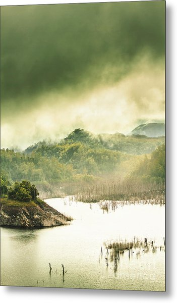 Majestic Morning Lake Metal Print