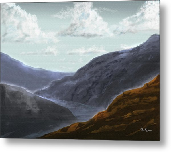 Metal Print featuring the digital art Majestic Outcrops by Barry Jones
