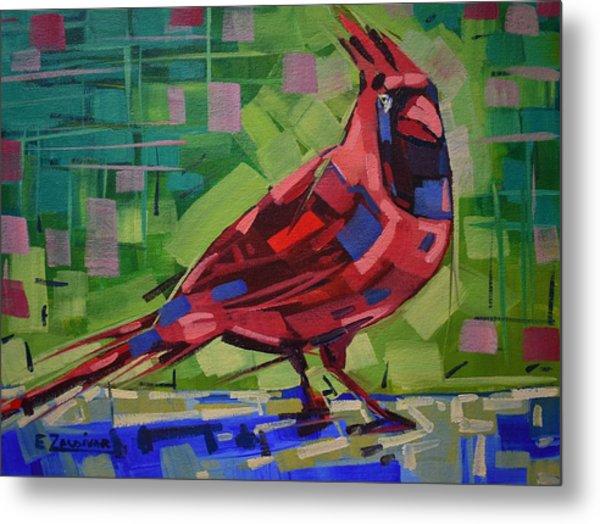 Majestic Red Bird Metal Print