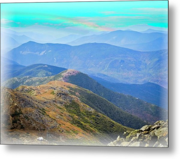 Majestic White Mountains Metal Print
