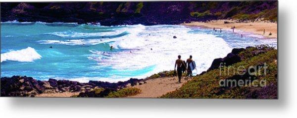 Panorama - Makapu'u Beach Park, Oahu, Hawaii  Metal Print