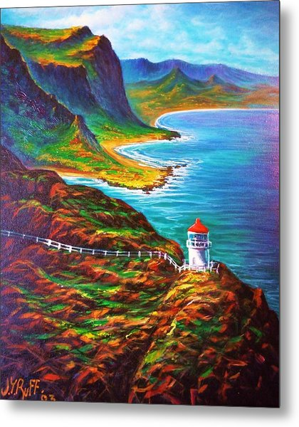 Makapuu Point Lighthouse Metal Print
