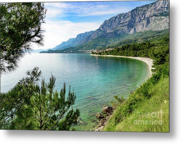 Makarska Riviera White Stone Beach, Dalmatian Coast, Croatia Metal Print
