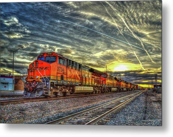 Make Way Resting B N S F Train Gallup New Mexico Art Metal Print