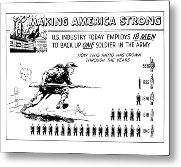 Making America Strong Cartoon Metal Print