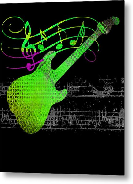 Metal Print featuring the digital art Making Music by Guitar Wacky