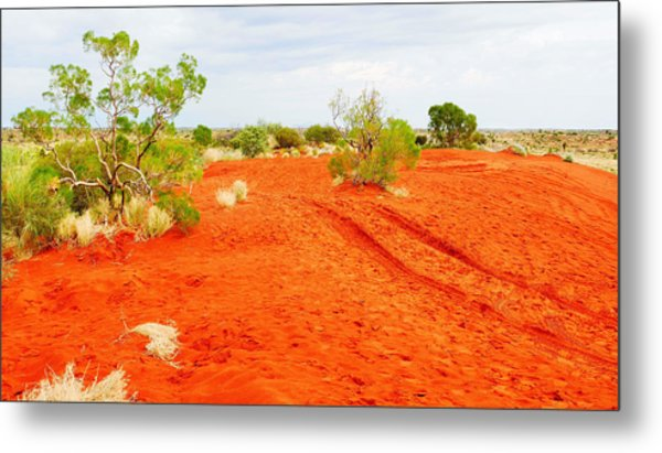Making Tracks In The Dunes - Red Centre Australia Metal Print
