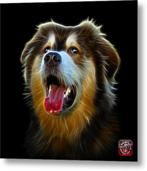 Metal Print featuring the painting Malamute Dog Art - 6536 - Bb by James Ahn