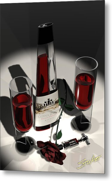 Malbec Wine - Romance Expectations Metal Print