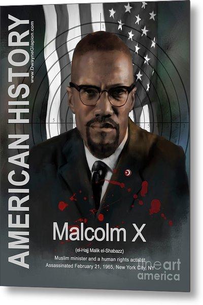 Malcolm X American History Metal Print