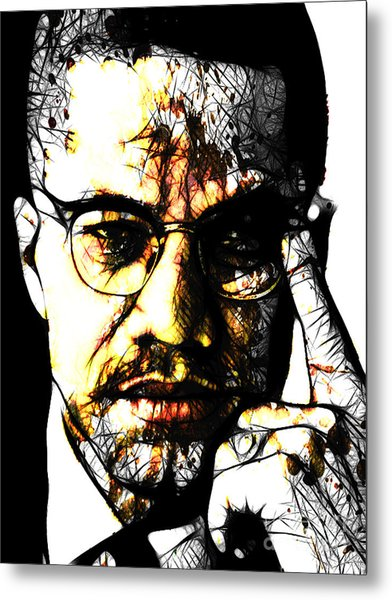 Malcolm X Metal Print by The DigArtisT