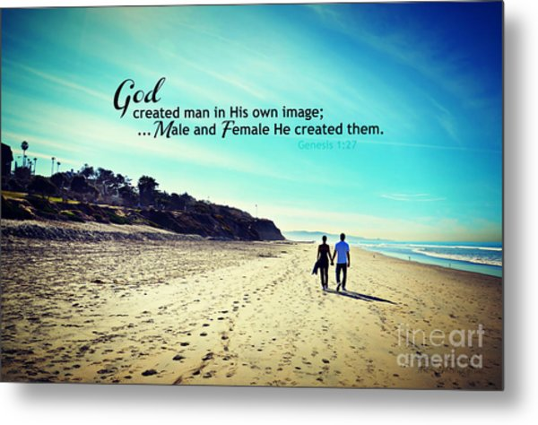 Male And Female He Created Them Metal Print