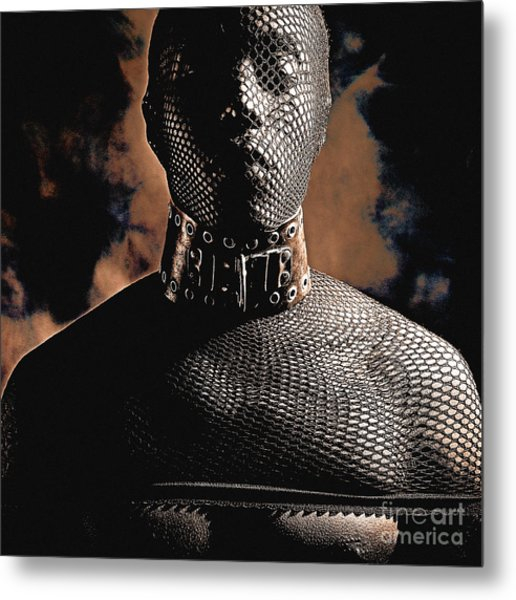 Male Masked Metal Print