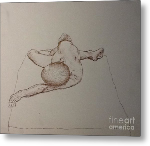 Male Nude Life Drawing Metal Print