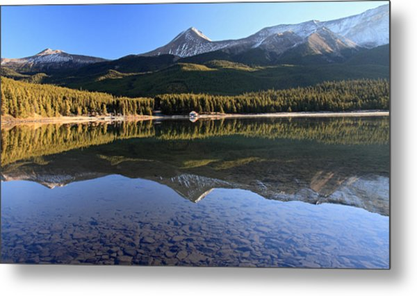 Maligne Lake Jasper National Park Alberta Canada Metal Print by Pierre Leclerc Photography