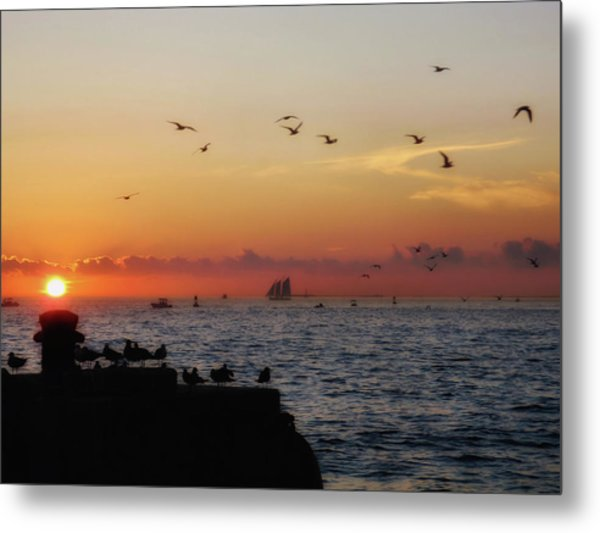 Mallory Square Sunset Metal Print by JAMART Photography
