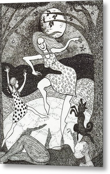 Mama Did The Moon Dance Metal Print