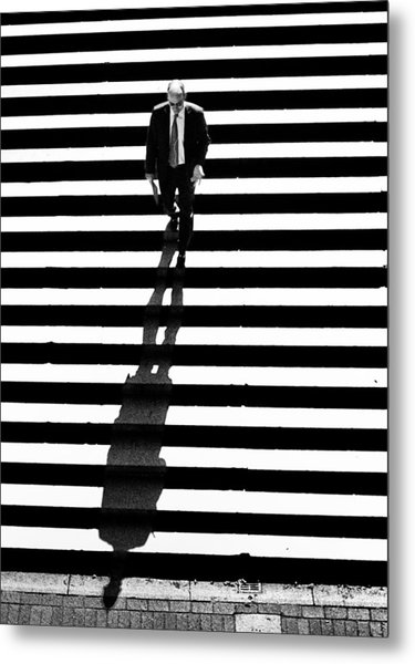 Man Bethesda Steps Metal Print