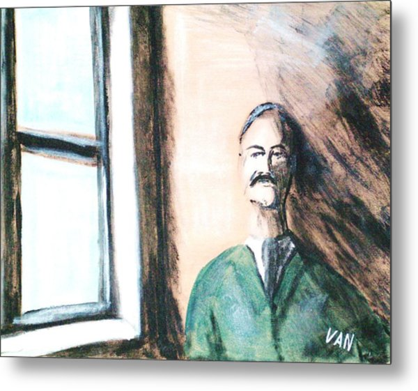 Man By The Window Metal Print