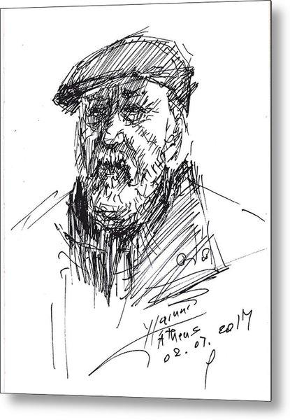 Man In A Hat Metal Print