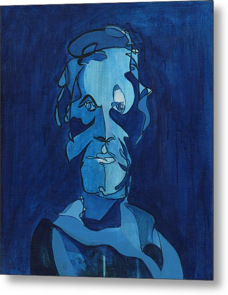 Man In Blue Metal Print