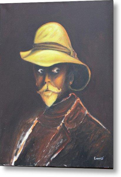 Man In The Golden Helmet - Edward S Curtis Metal Print