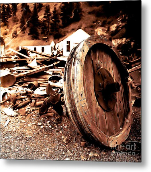 Man Inventid The Wheel Metal Print