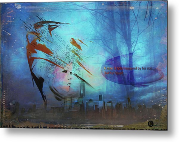 Man Is Art Metal Print