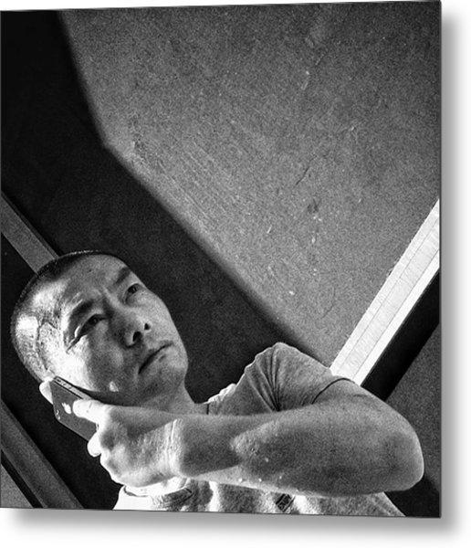 #man #portrait #people #iphone #mobile Metal Print